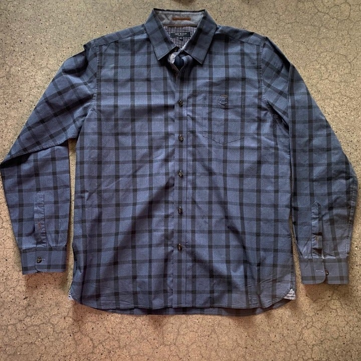 Ted Baker • Dark Navy Dress Shirt • Larg