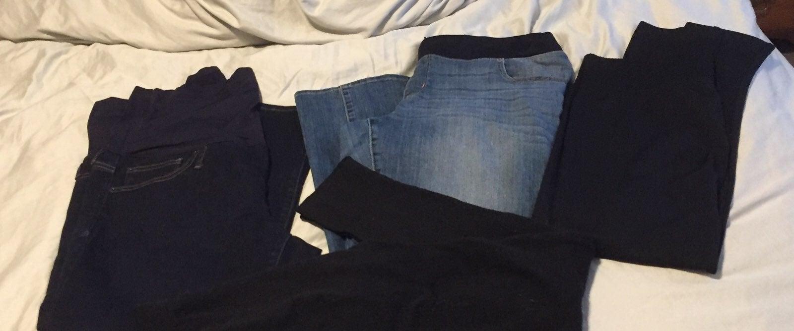 maternity pants lot 2jeans 2leggings