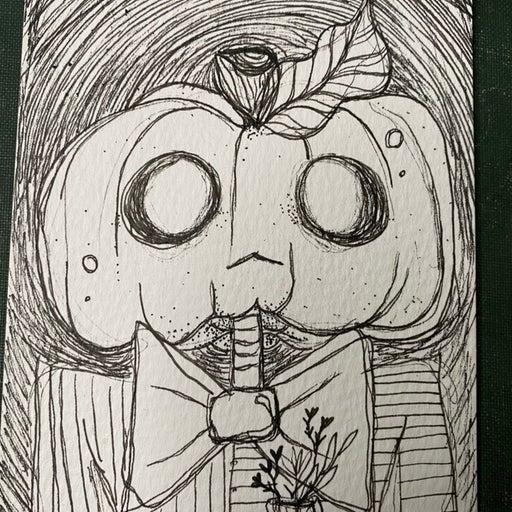 Original pumpkin head illustration