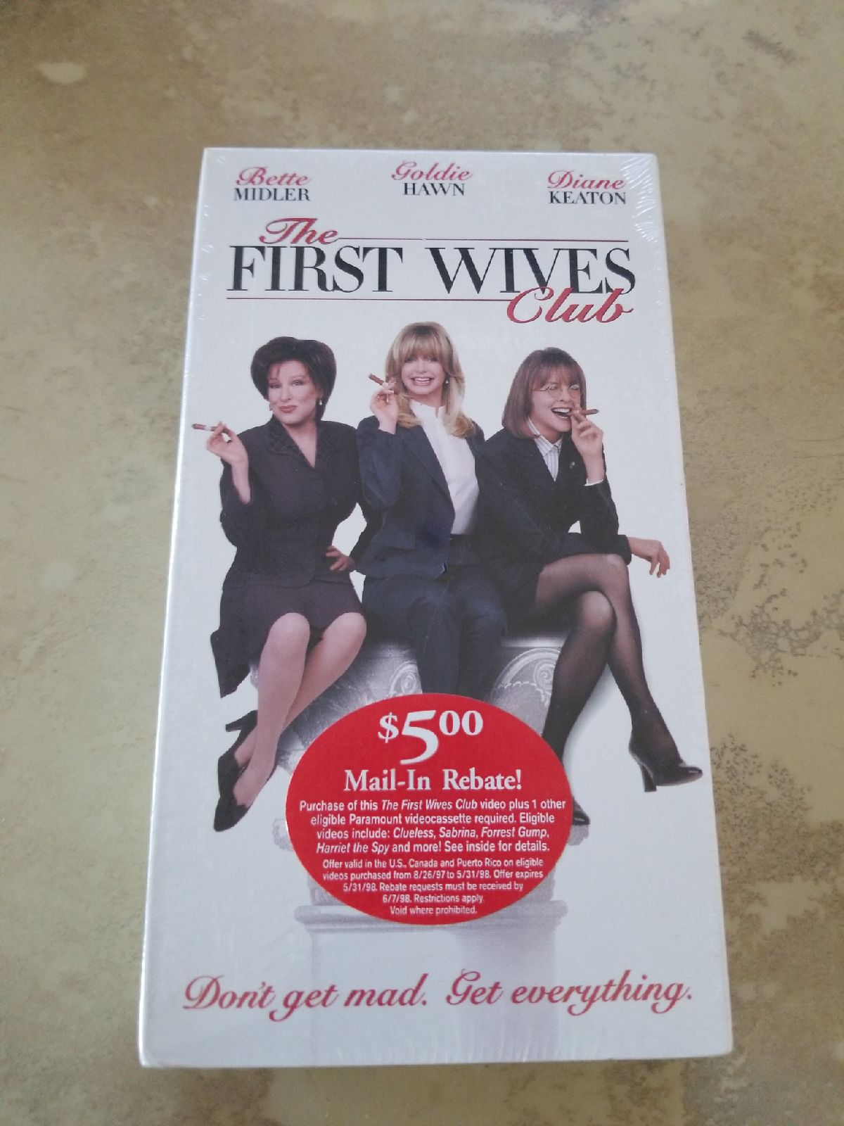Vhs The First Wives Club nwt