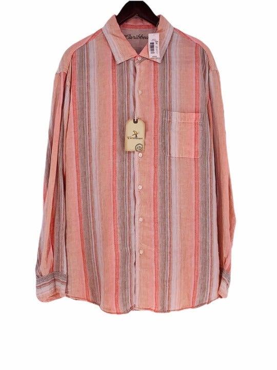 Caribbean Men's Linen Blend Woven Shirt