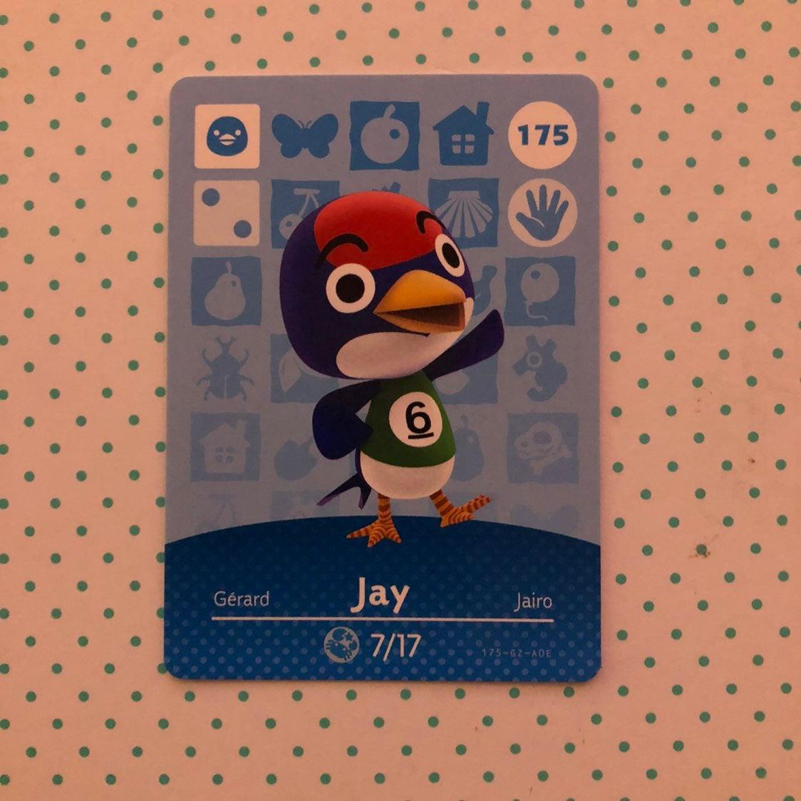 Animal Crossing Amiibo Card Jay