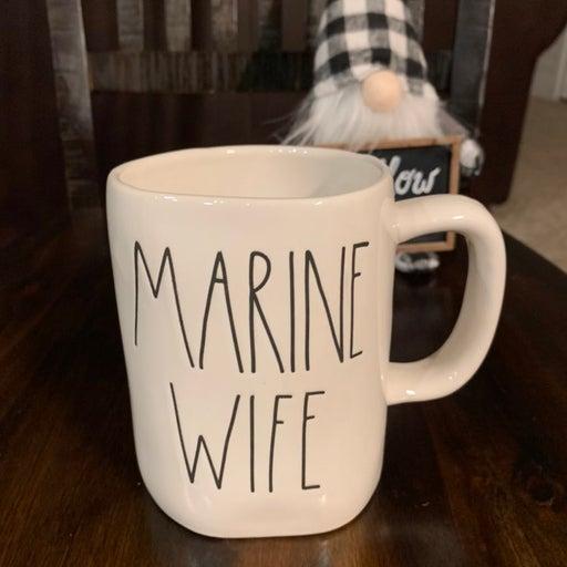RaeDunn MARINE WIFE mug