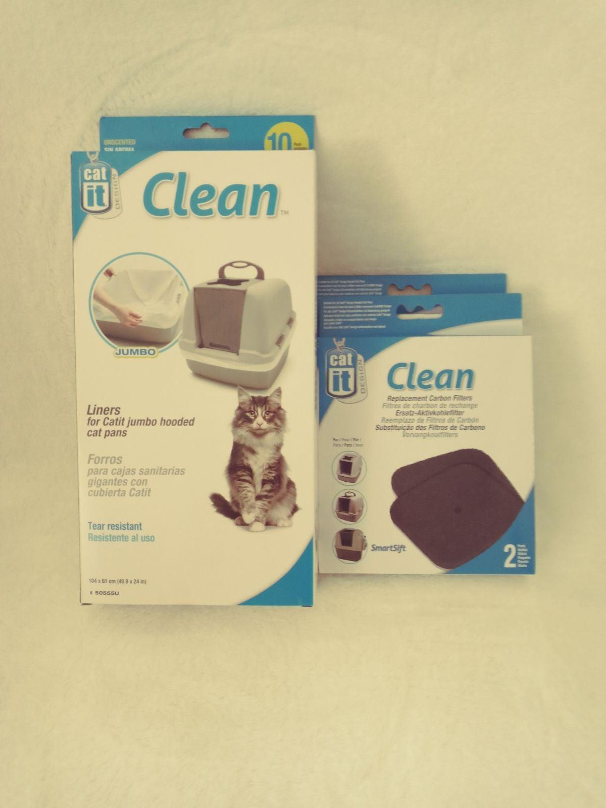 Jumbo cat litter box liners & carbon fil