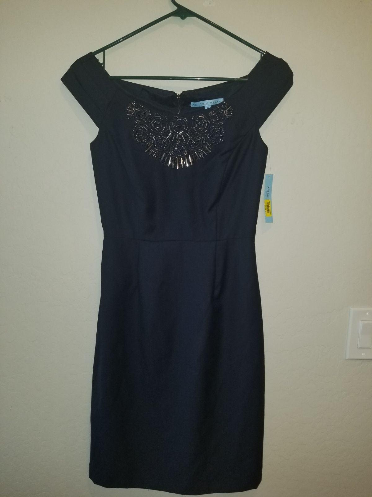 Antonio Melani Navy Blue Waverly Dress
