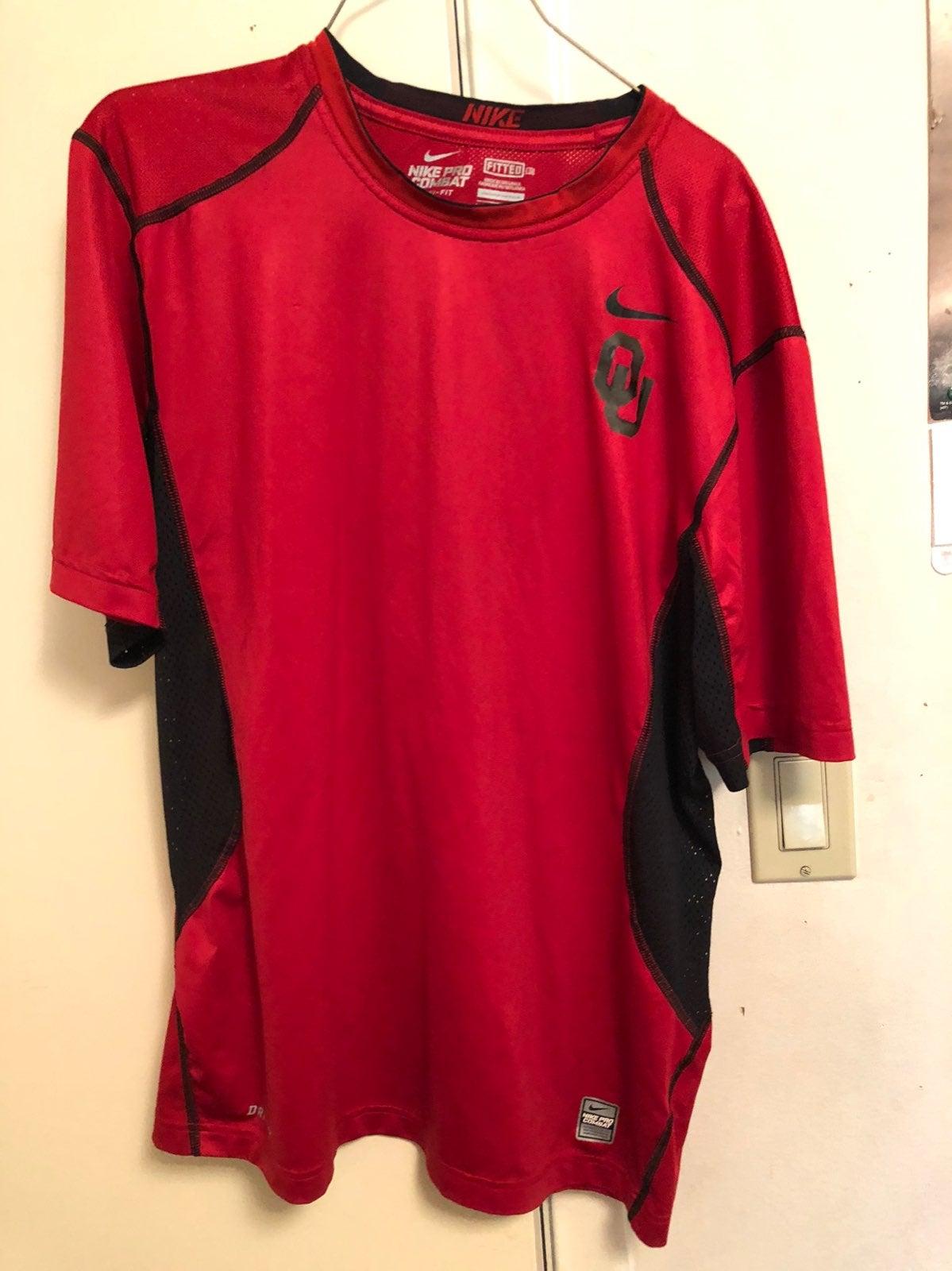Nike pro combat oklahoma elite shirt