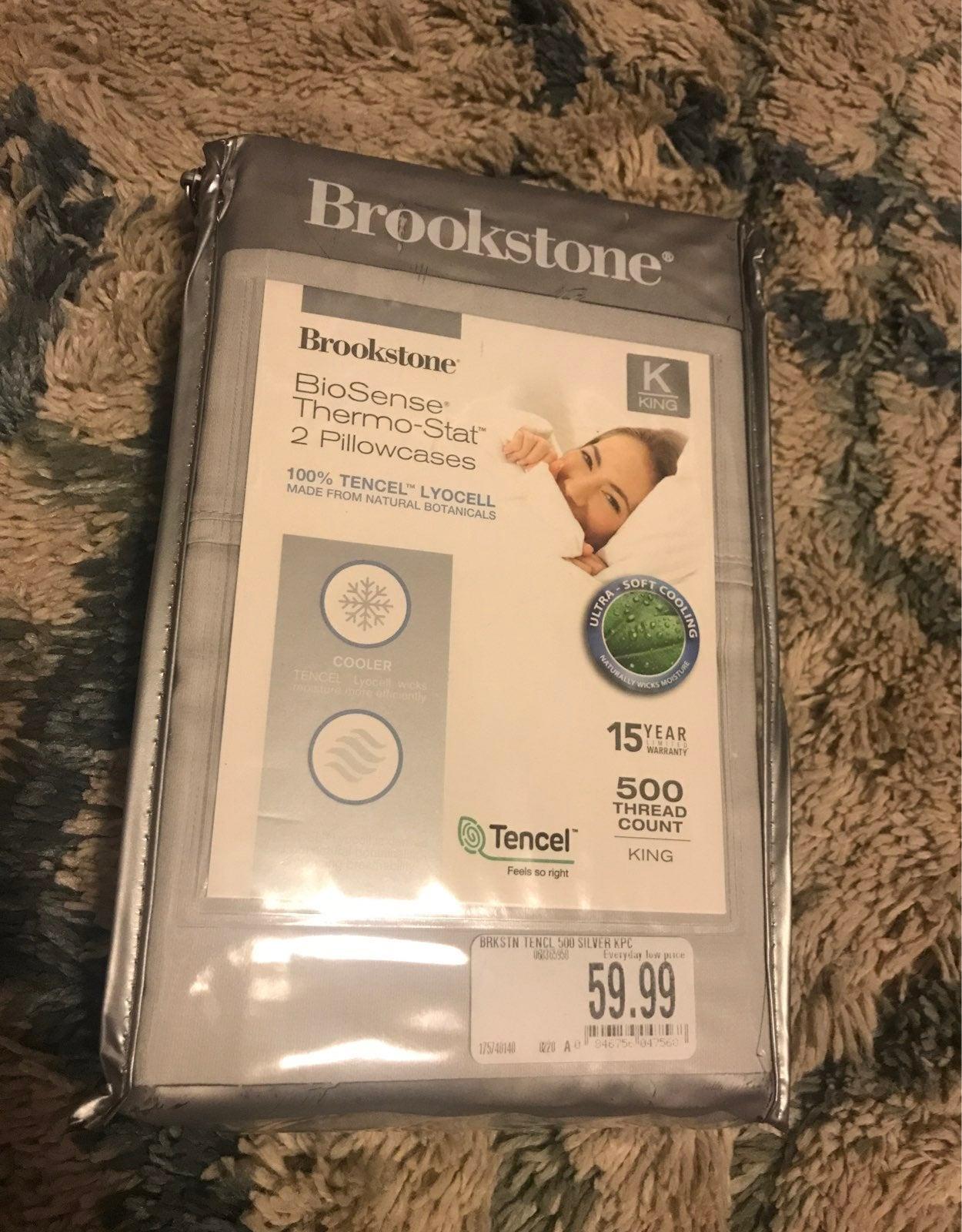 Brookstone biosense thermo stat pillowca