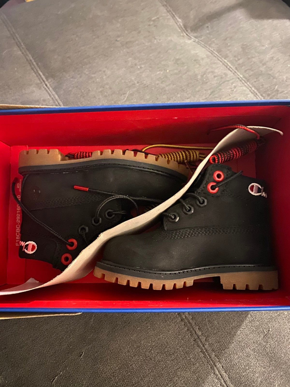 timberland/champion boots 7 toddler