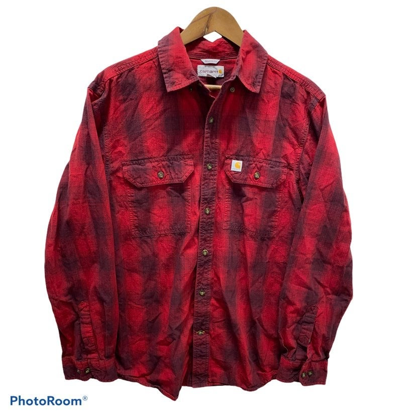 Mens Carhartt Buffalo Plaid Flannel