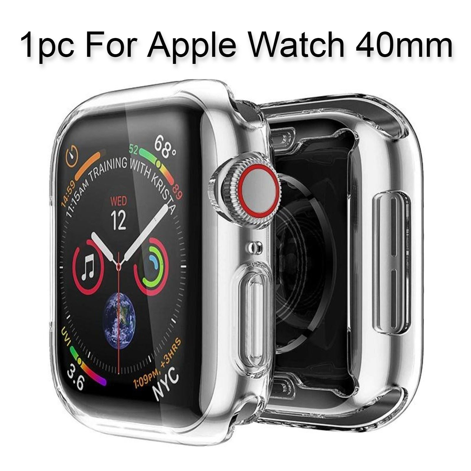 1pc For Apple Watch 40mm Clear Case