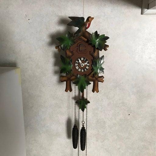 Vintage German wood cockoo clock