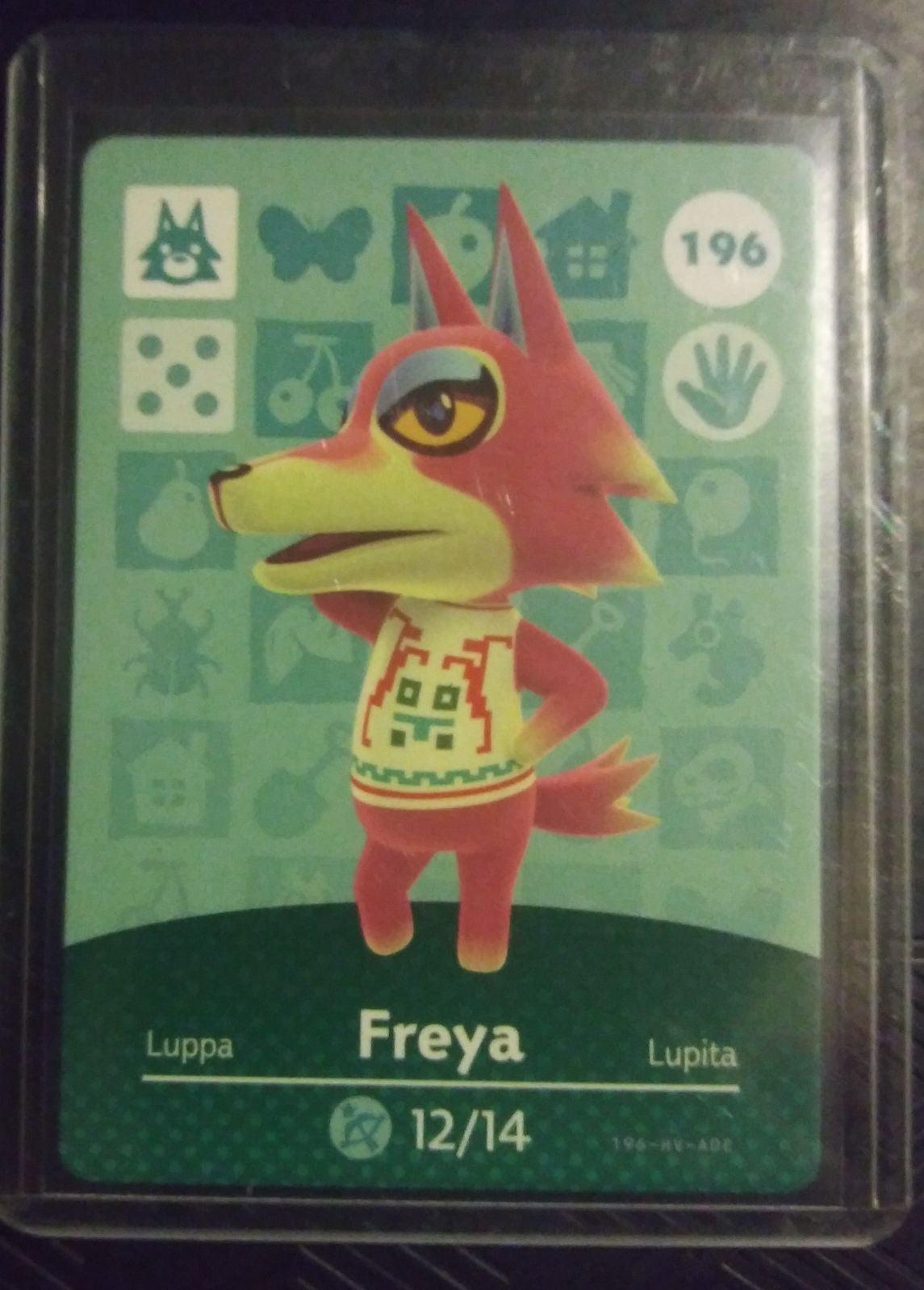 Animal Crossing Freya 196 Amiibo Card