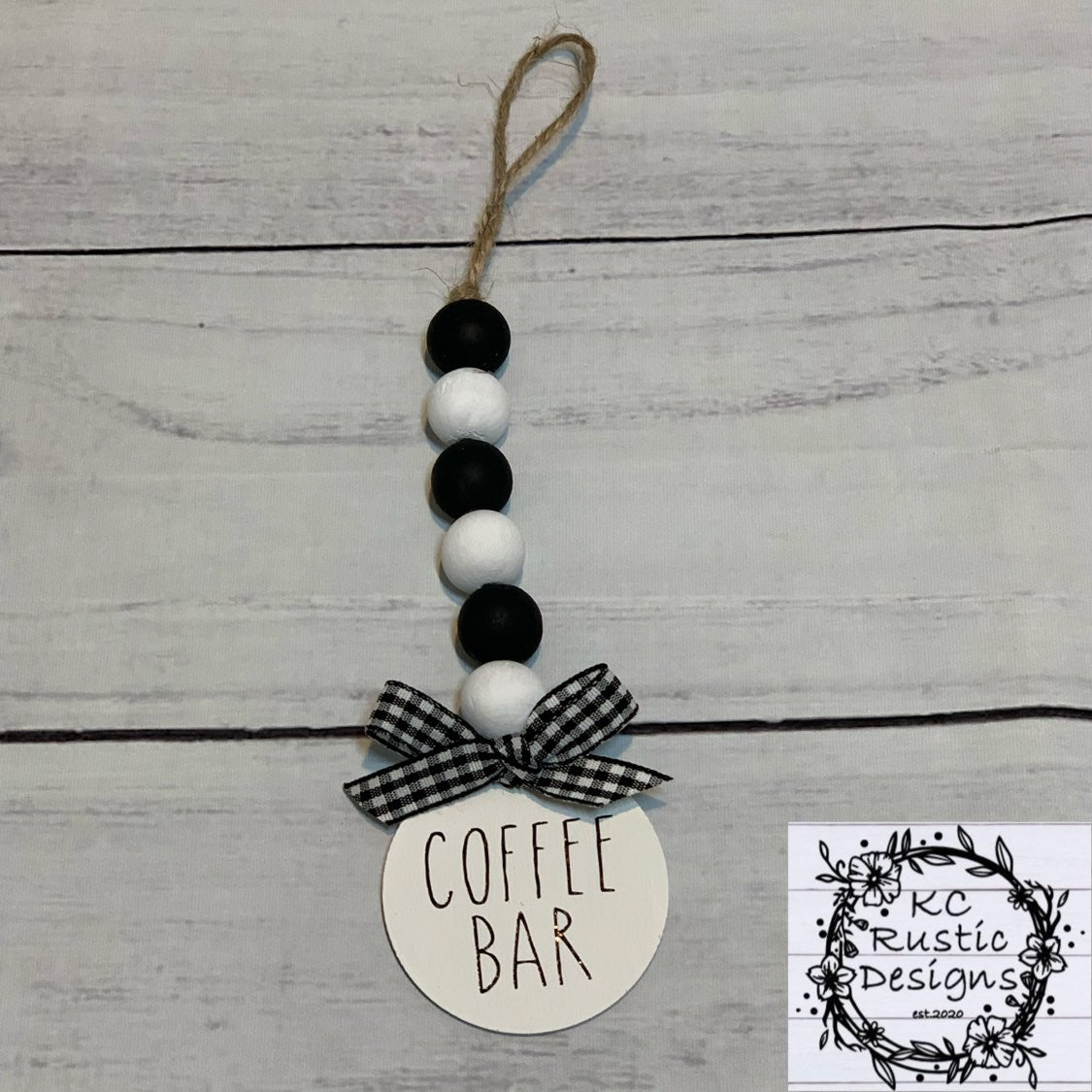 Coffee canister garland
