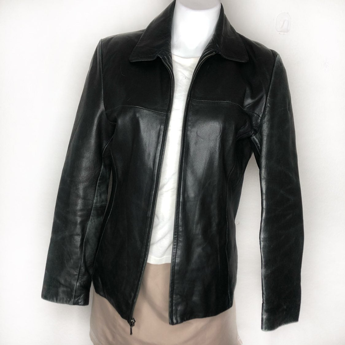 Wilson's Leather Soft Black Jacket M