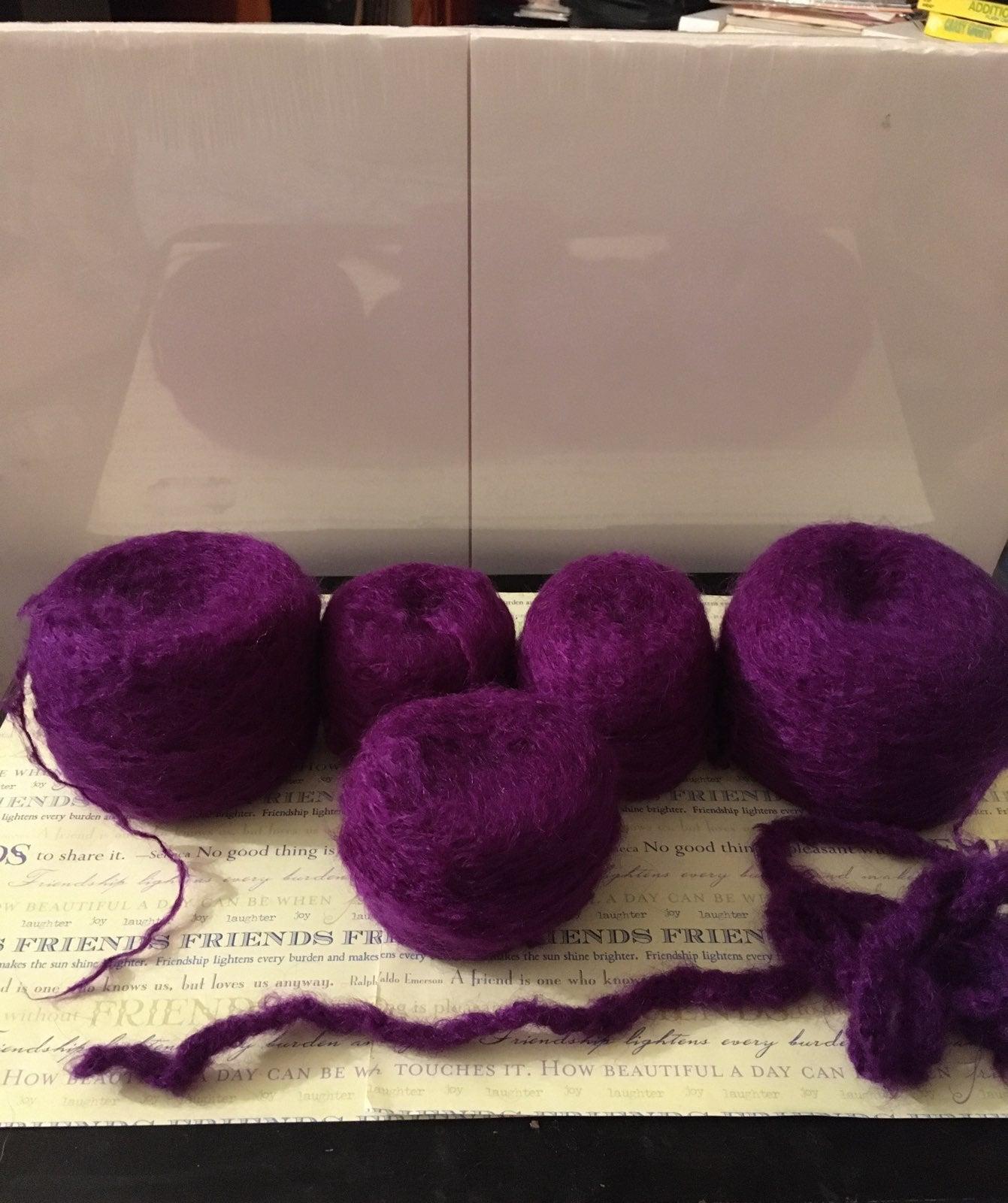 Purple mohar yarn Lot