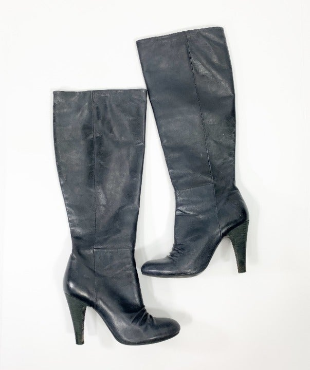 Bronx Toose Day Boots 6.5 Leather Black