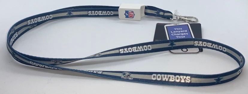 Dallas Cowboys iPhone Charging Lanyard