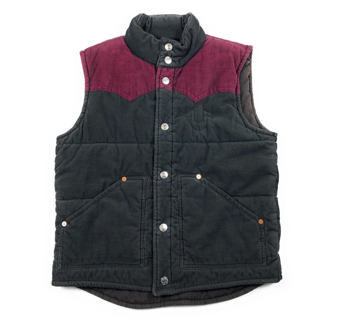 True Religion Carter Corduroy Puff Vest