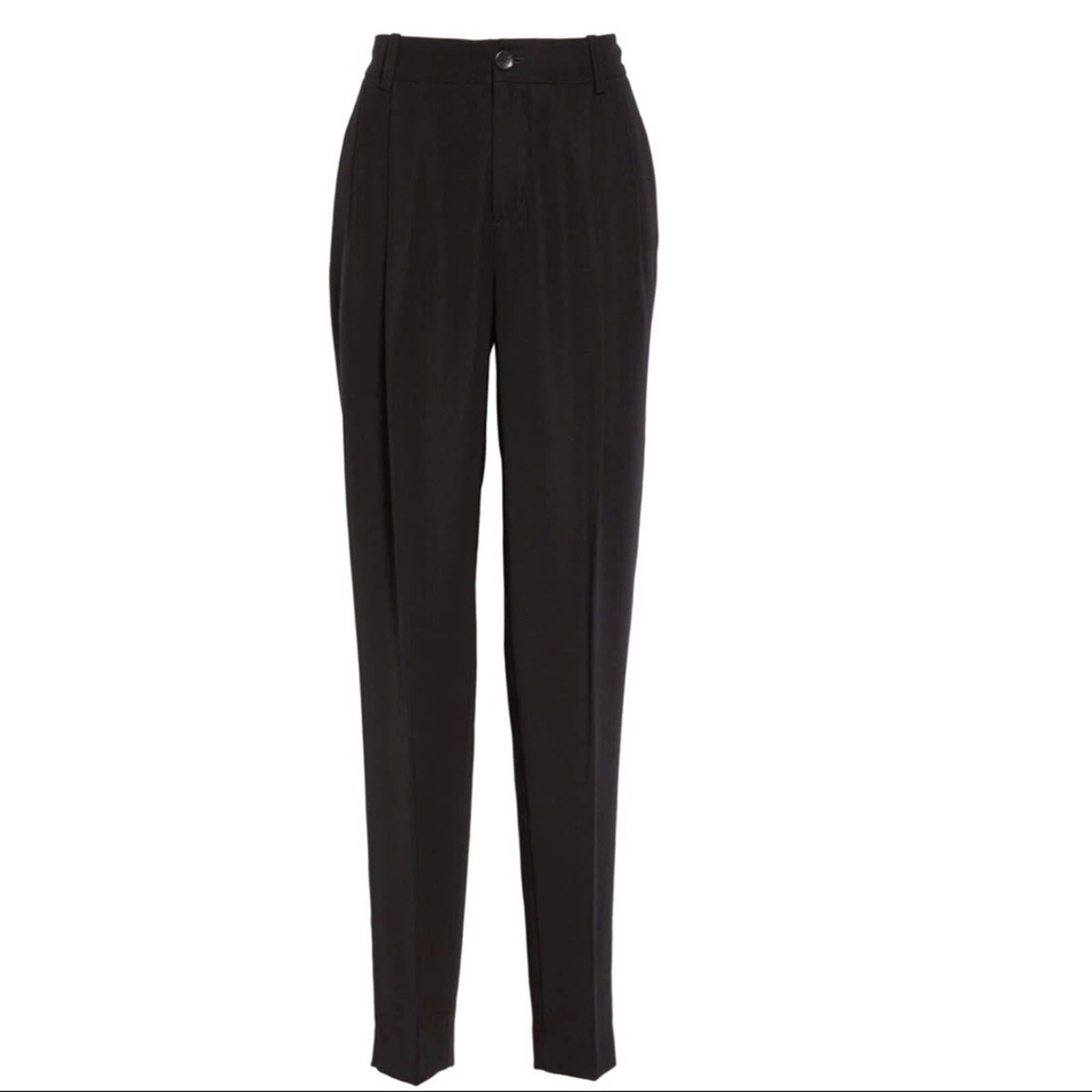 NWT VINCE Pleated Tapered Black Pants 2