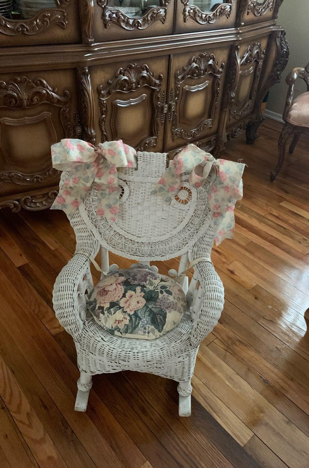 Children Wicker Rocking Chair