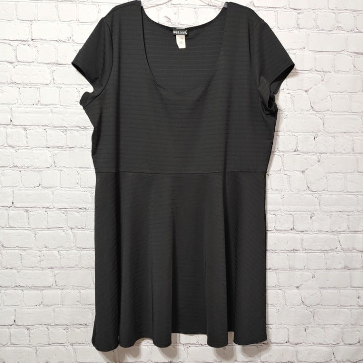 Wet Seal Black Skater Dress