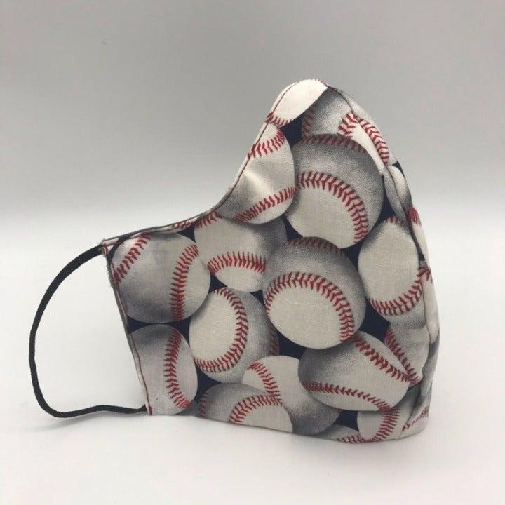 Face mask Baseball Size Large reversible