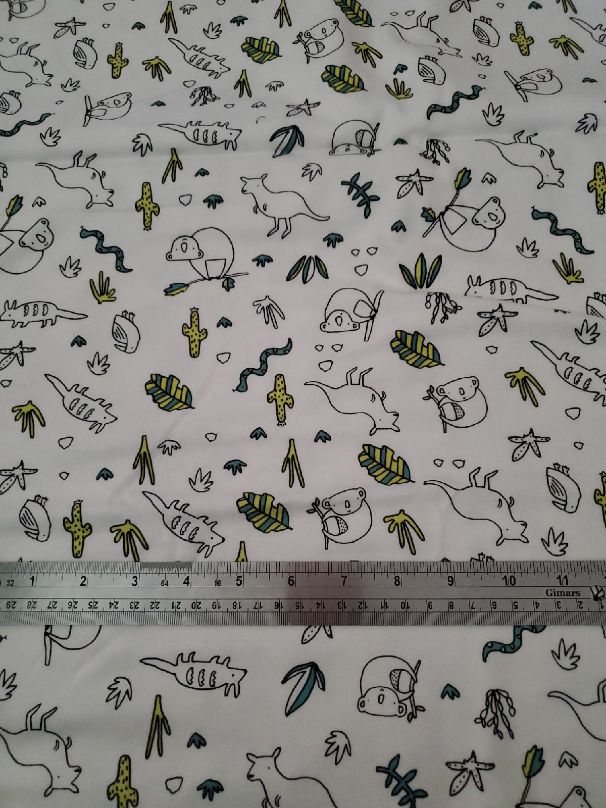 1 yard animal fabric
