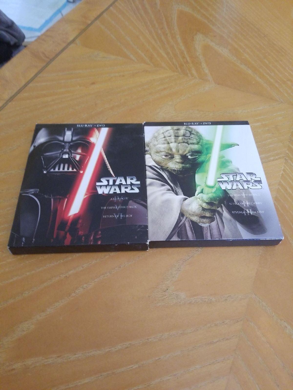 Star wars saga on blu ray & dvd