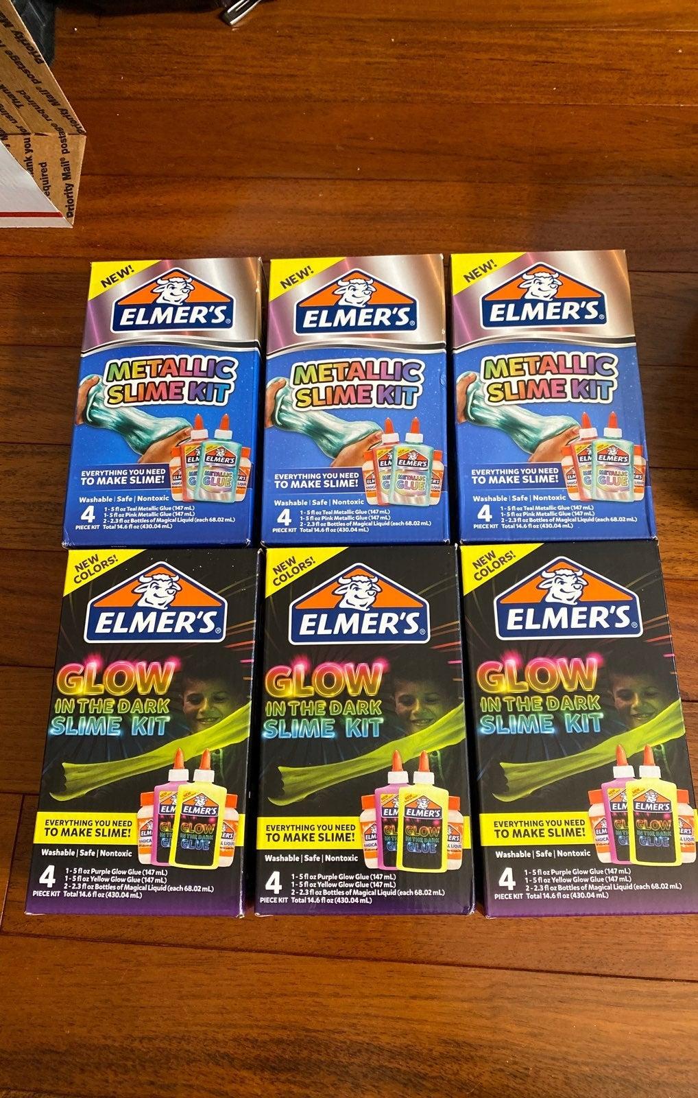 New 6 boxes Elmers Slime Kits