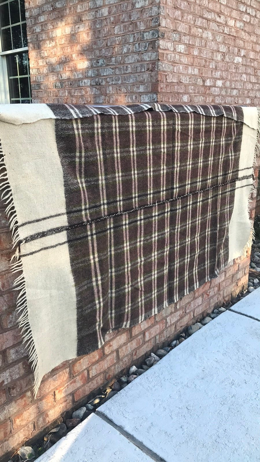 Woven wool Blanket (made by hand)