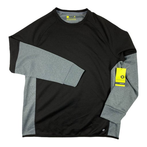 Large Black Gray Quick Dri Sweatshirt