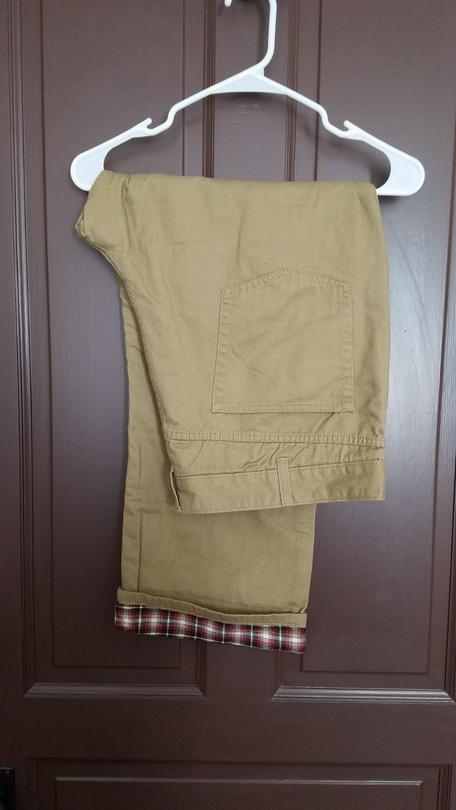 Flannel lined khakis