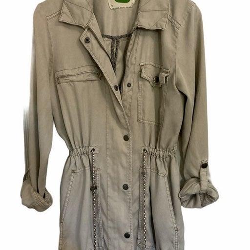 Anthropologie M Utility Jacket beige