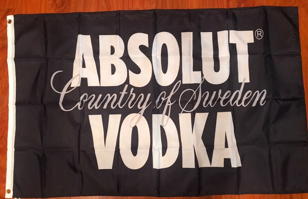 Absolute Vodka Flag Banner 3x5' Tapestry