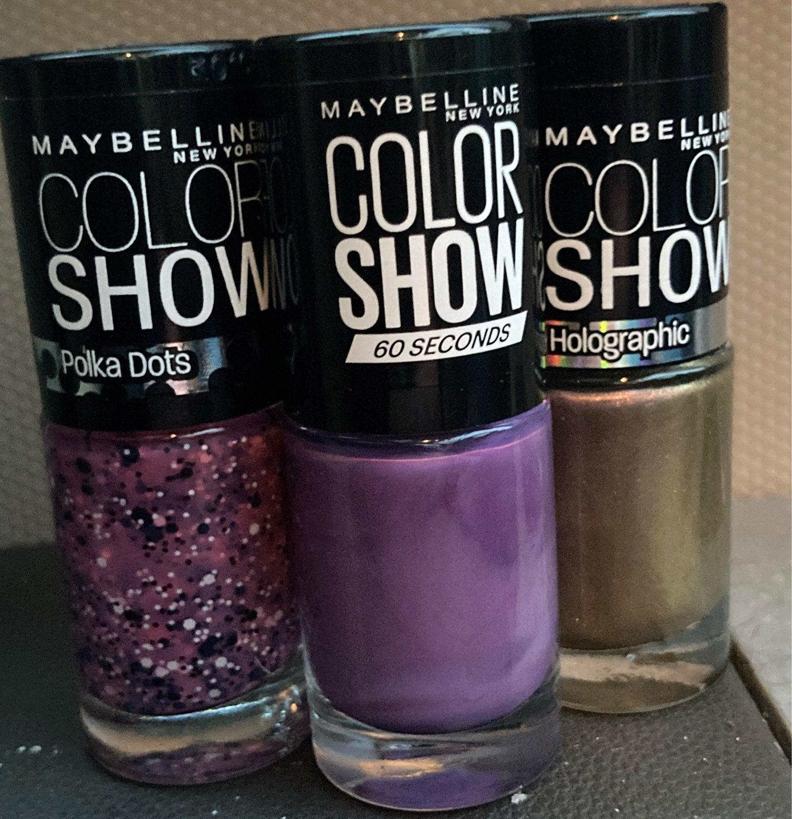 Maybelline color show trio