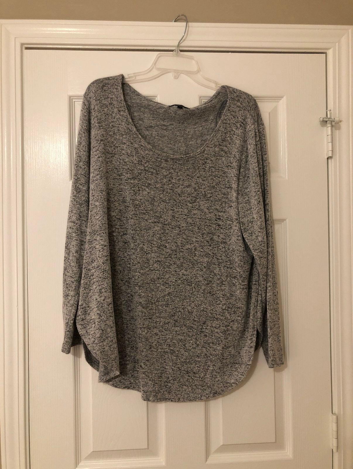 Gray Long Sleeve Top