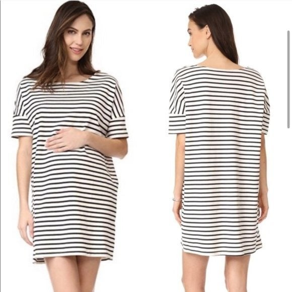 Hatch Striped Afternoon Maternity Dress