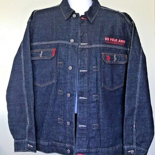 POLO Mens Retro Denim Jean Jacket Sz XL