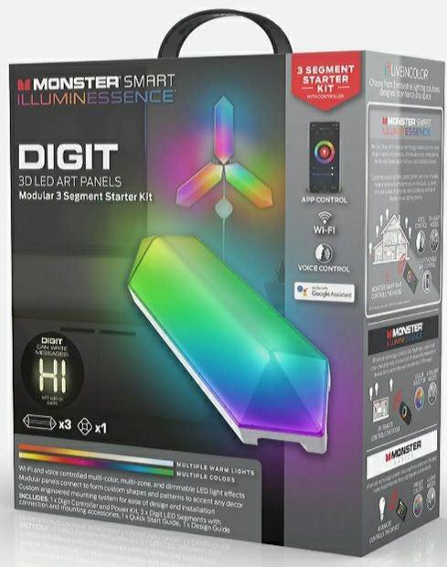 NEW! MONSTER DIGIT 3D LED ART PANEL STAR