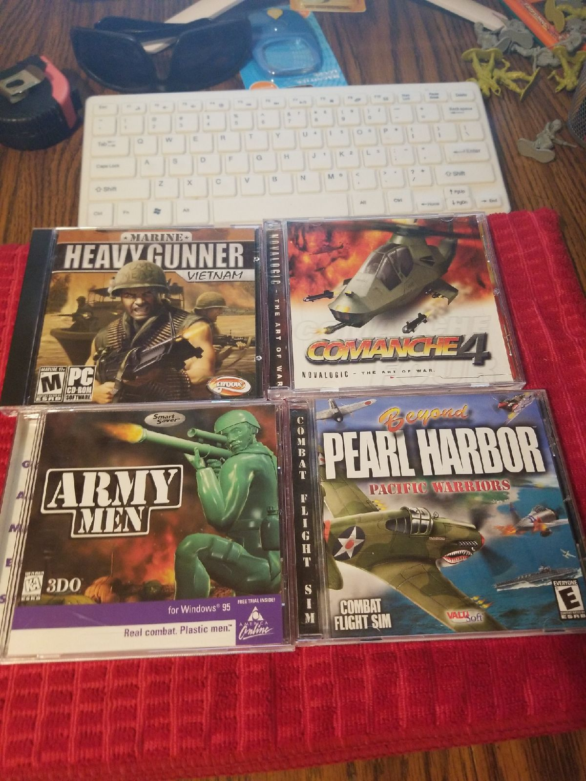 Pc miltary games lot of 4. Mint conds ci