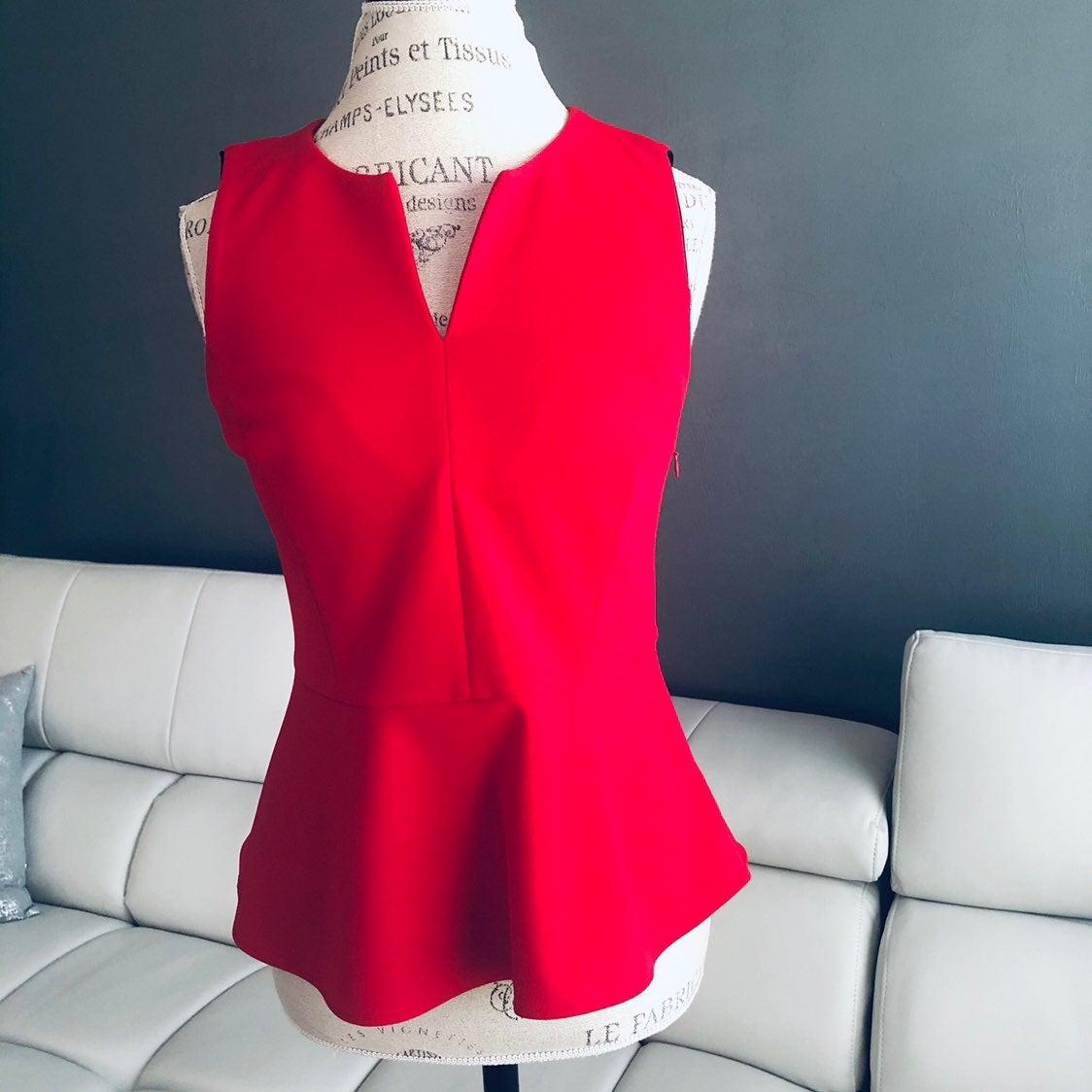 DKNY Sleeveless V neck Top.