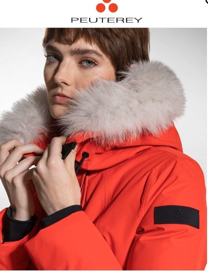 Peuterey Parka with Fox Fur Trim Hood