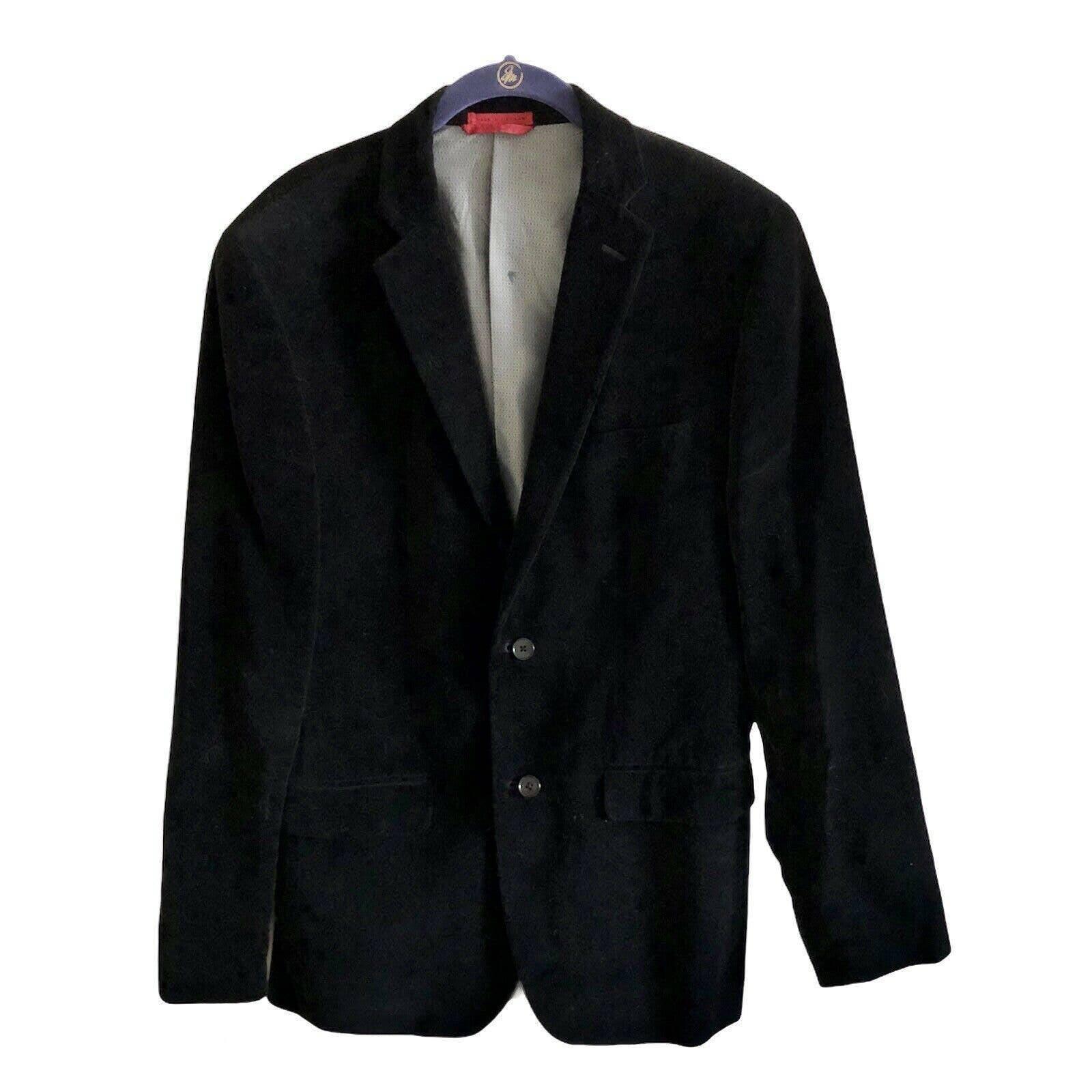 Alfani Black Velvet Blazer/Jacket 38