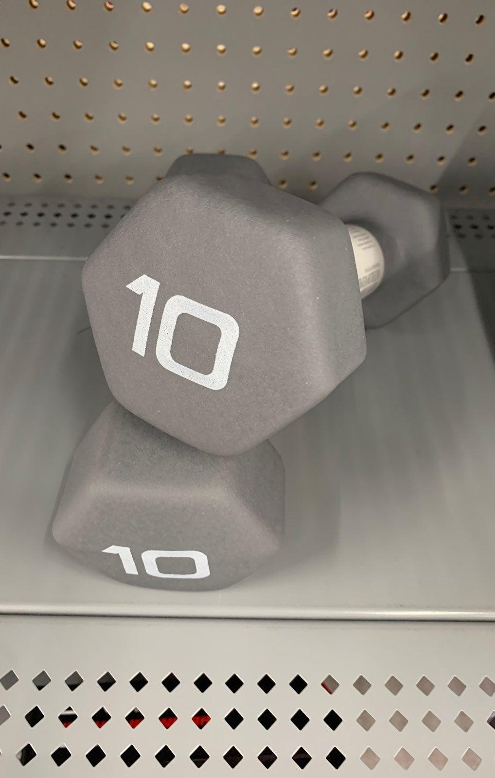 (2)Cap 10lb Pound Neoprene Dumbbells