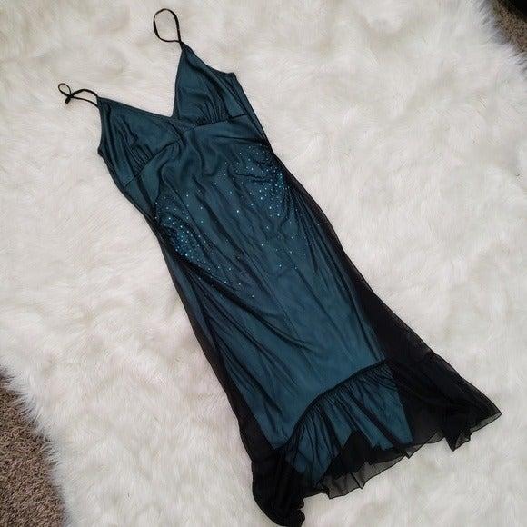 Hourglass Semi-Formal Blue & Black Dress
