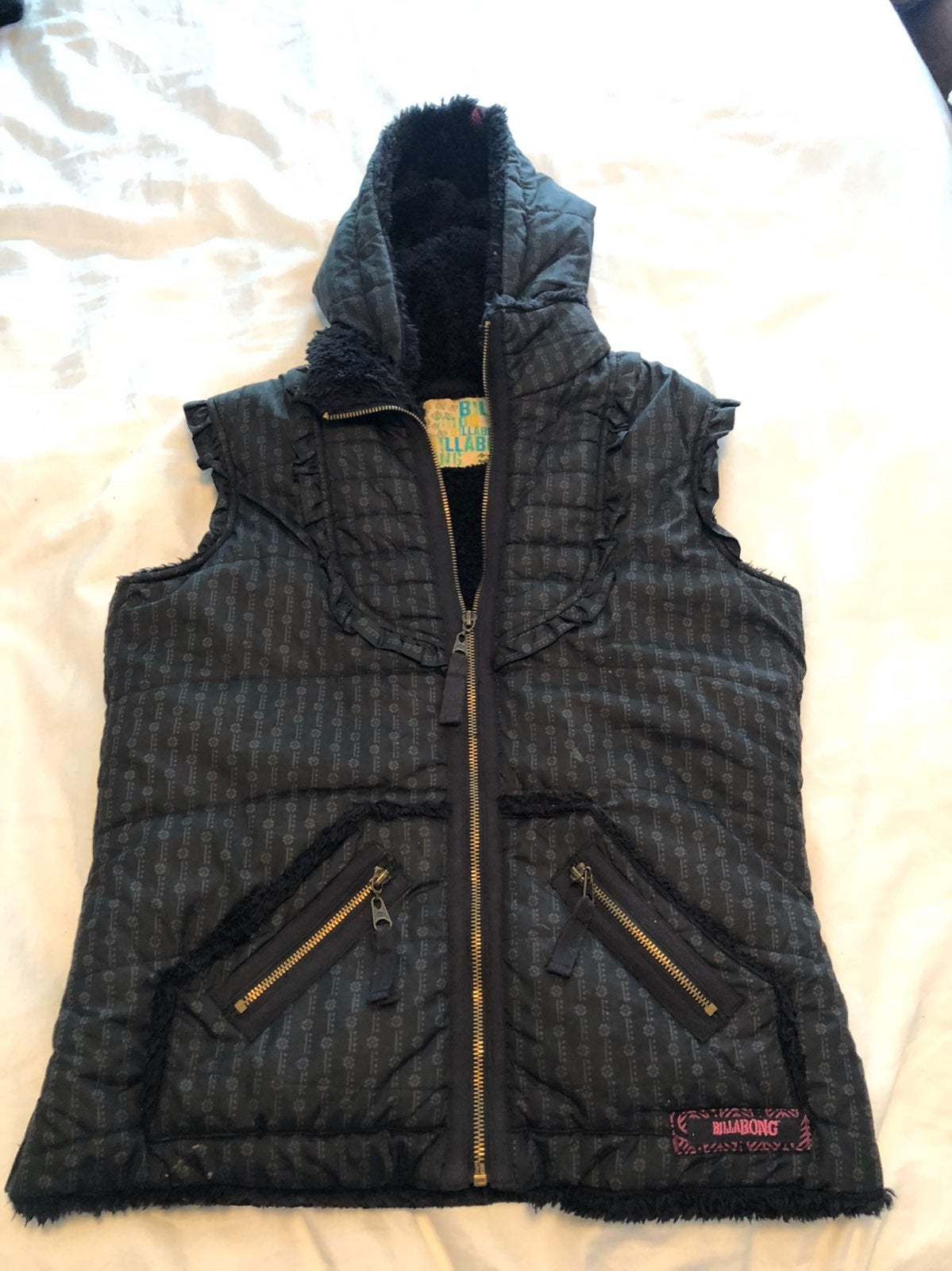 Billabong small vest sherpa black