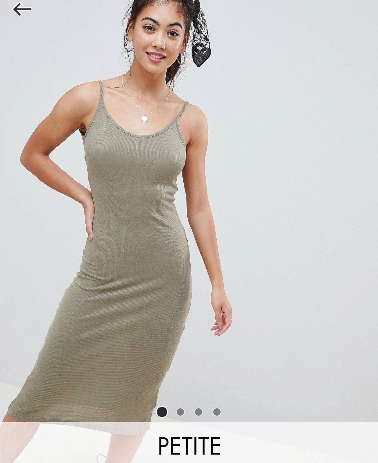 Brave Soul Petite Low Back Midi Dress. 0
