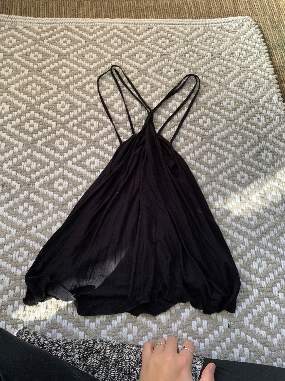 Hollister High Neck Strappy Tank Top