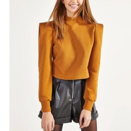 Bershka Shoulder Pad- Effect Sweatshirt