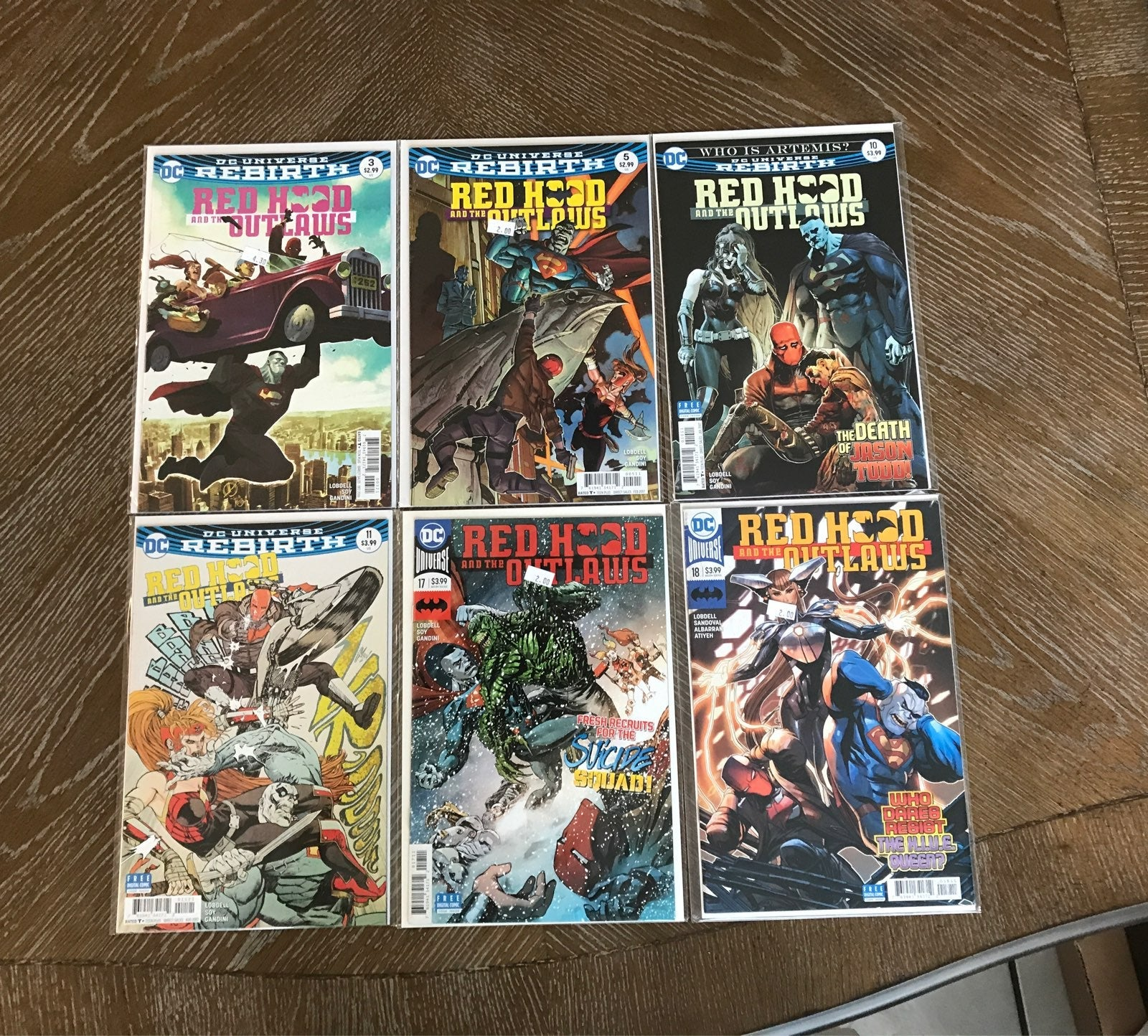 Red Hood and the Outlaws - Rebirth- lot